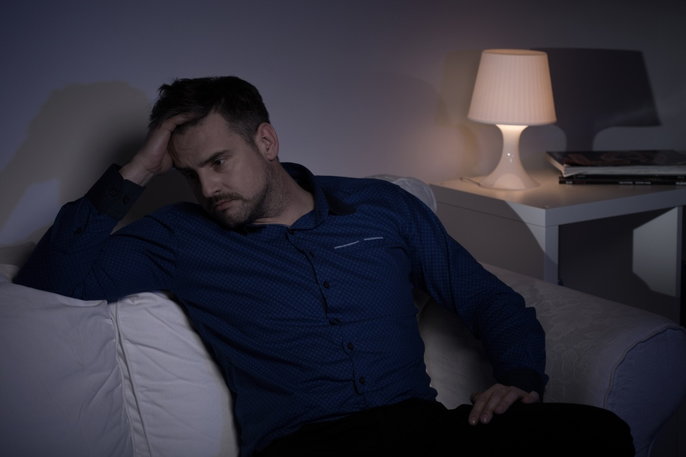Mature man with problems spending evening alone